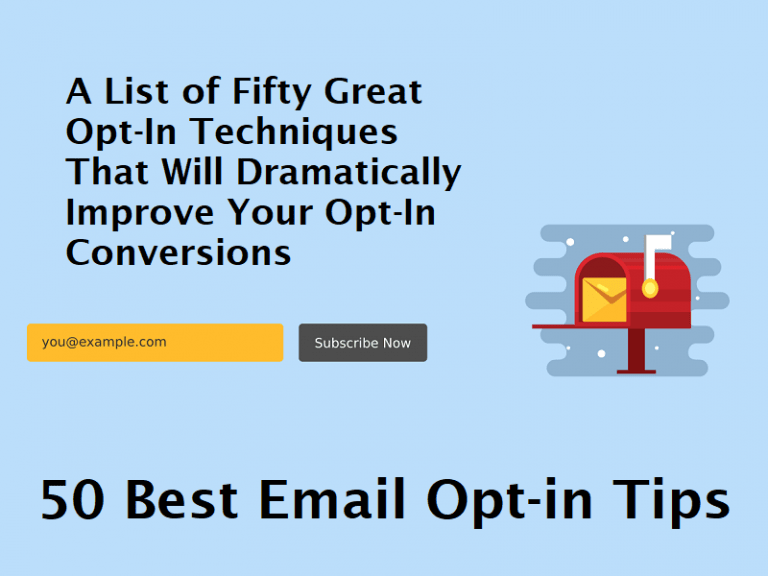 50 Best Email Opt-in Tips