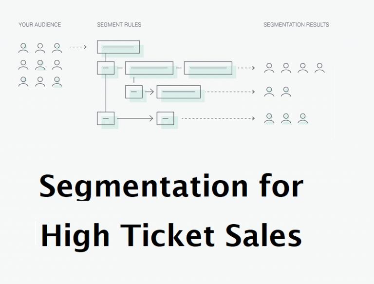 Segmentation for High Ticket Sales